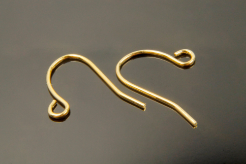 [E15-G3]Earring hook, Nickel free,100 pcs, 11x13mm, Hook, 16K gold plated brass, Earring making supplies
