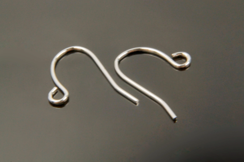 [E15-R3]Earring hook, Nickel free, 100 pcs, 11x13mm, Hook, Original rhodium plated brass, Earring making, Dangle & Drop earring omponent