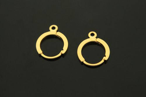 [E2-G3]Lever Back Earring (L), Nickel free, 10 pcs, 12mm, 1.5mm thick, 16K Gold Plated Brass, Earring Component, Good for Dangle Earrings