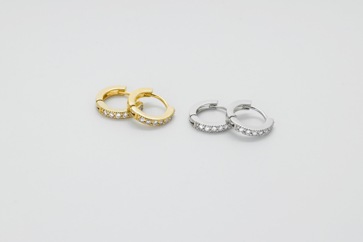 [EB20-27] Cubic lever back earrings, Brass, Nickel free, Handmade jewelry, Simple earrings, Minimal hoop, 2 pcs per style