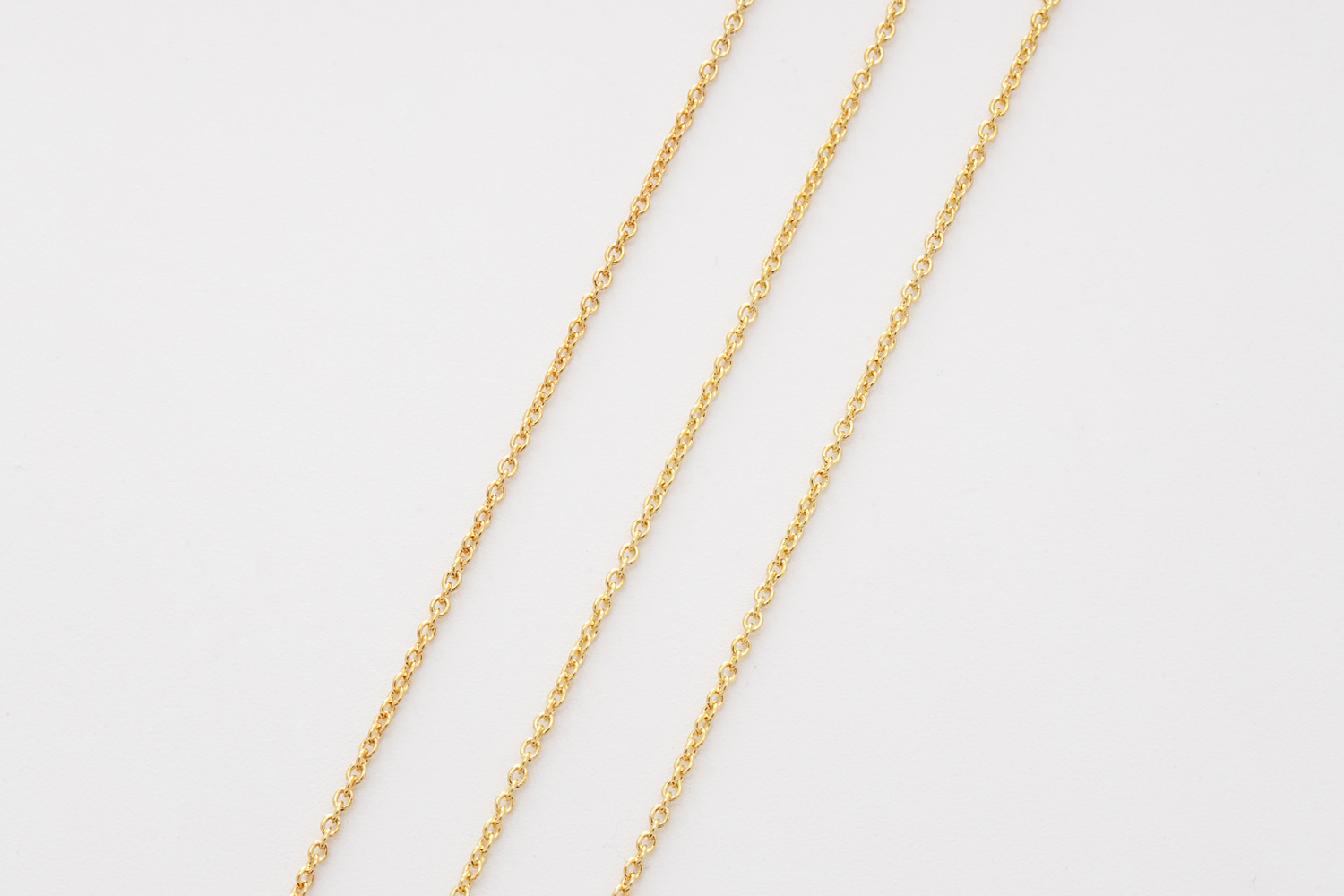 [CJ03-03]Chain 230S, Nickel free, 10m, 16K gold plated copper brass, Design chain, Jewelry making, 1.3x1.5mm