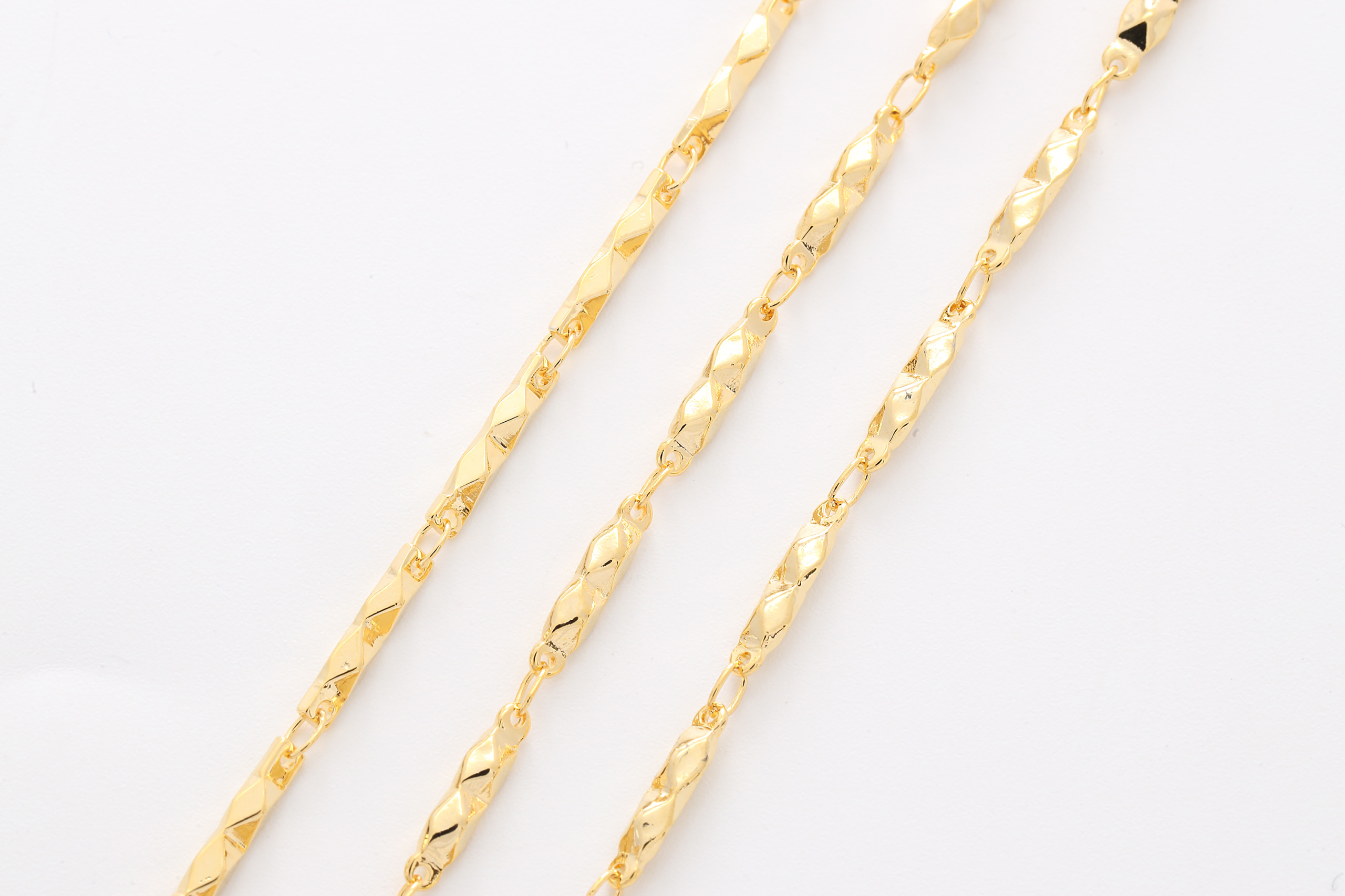 [CJ05-12] LAST STOCK, Unique linked chain, Brass, Nickel free, Unique chain, Handmade chain, Jewelry making supplies, 1m