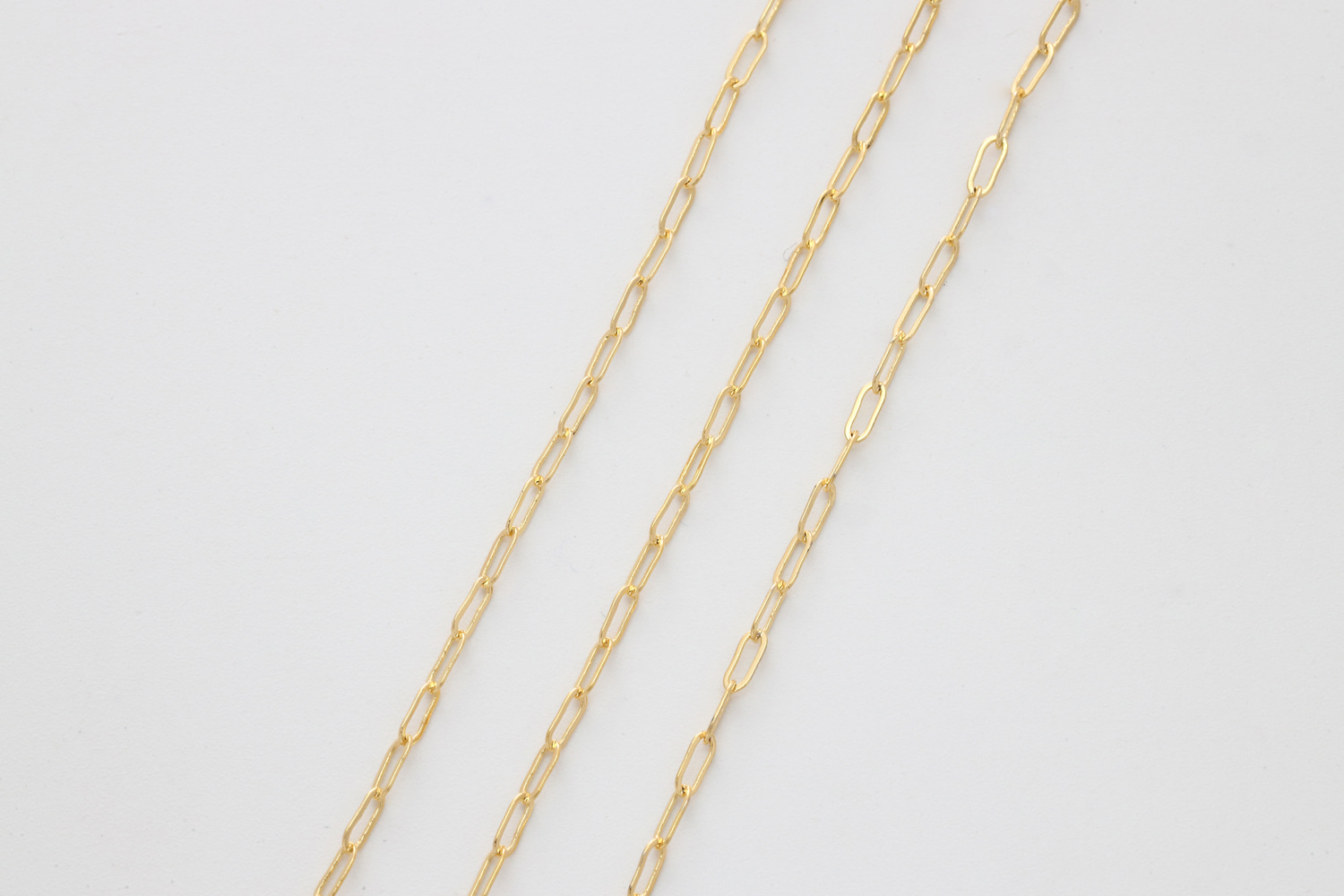 [CJ05-13] Rectangle link chain, Outer 4.3x1.7mm, Red brass, Nickel free, Anklet / Bracelet / Necklace chain, Jewelry making supplies, 1m