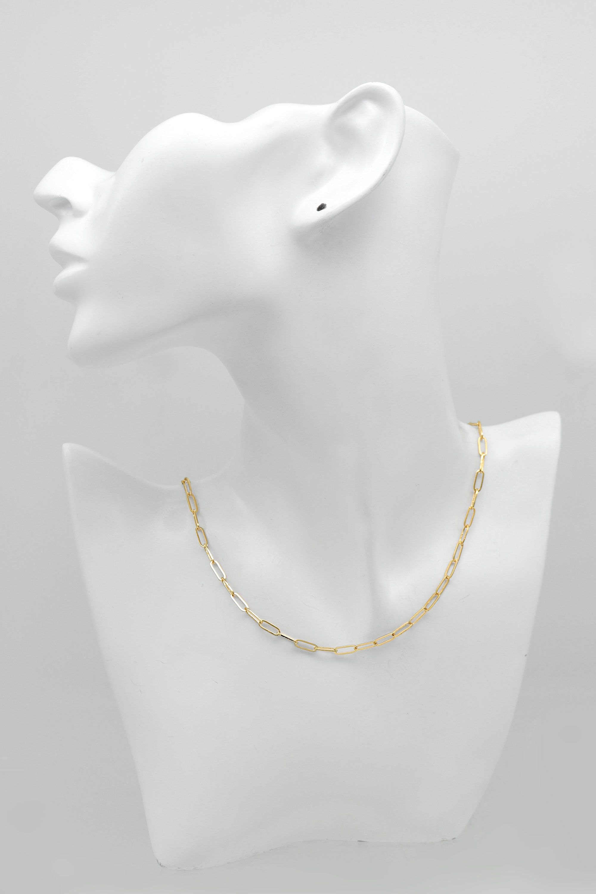 Rectangle link chain necklace for charm, N4505-G1