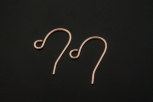 [E15-P3]Earring Hook, 100 pcs, 11x13mm, Rose Gold Plated Brass, Jewelry Making, Fish Hooks, Ear Wires, Earring Findings, Jewelry Components