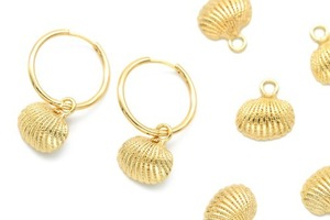 Bellylike Shell Charm ONLY, O2-R4, 4 pcs