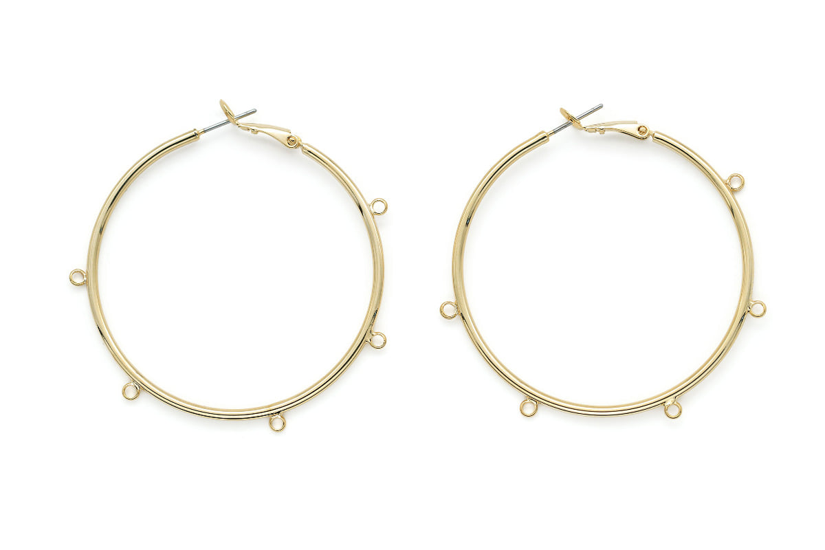 Big hoop earring w/ 5 loops, T65-G4