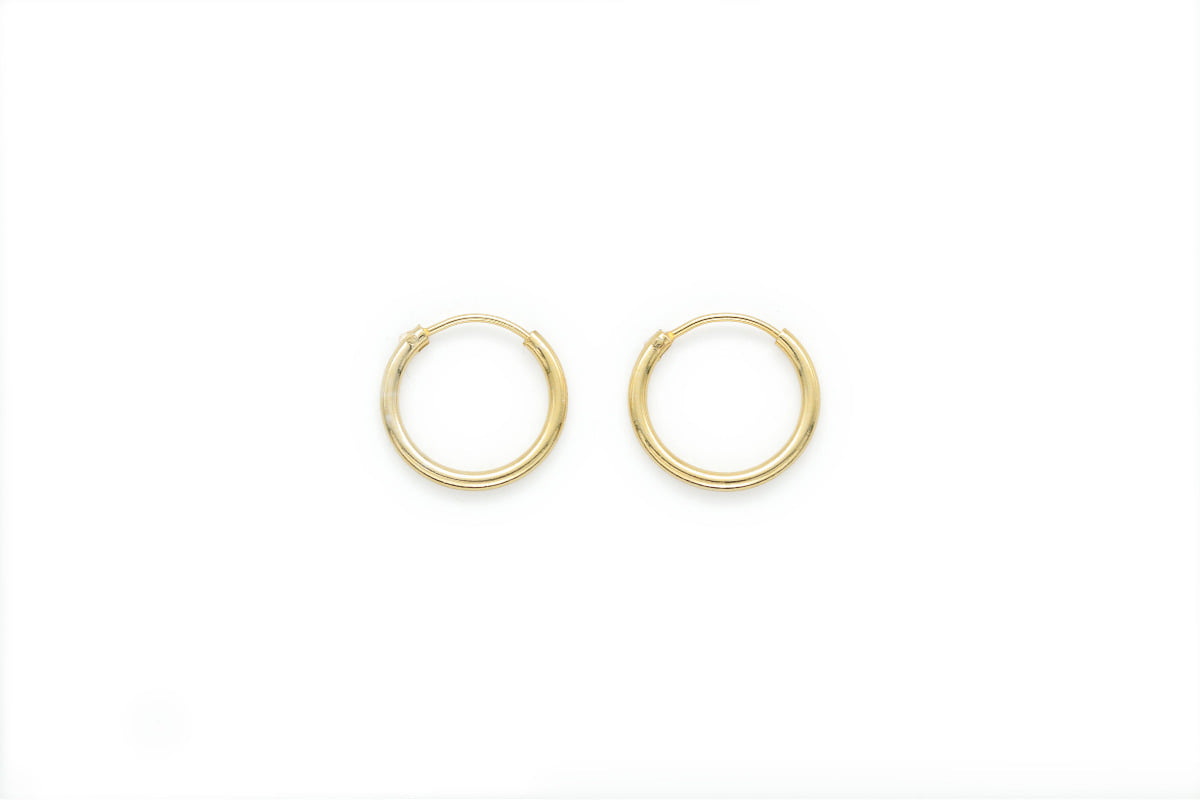 14mm round hoop earrings, T65-R5