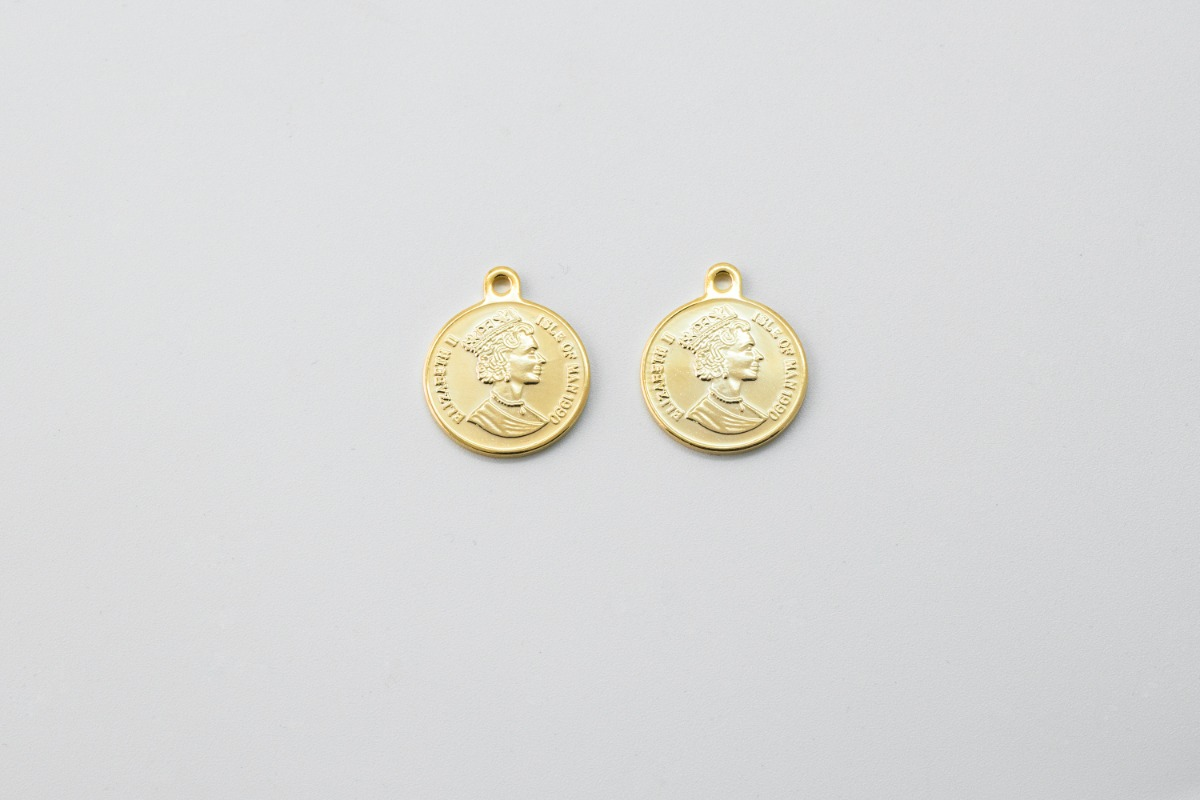 Queen Elizabeth II coin pendant (Large), 1 piece, [Q6-R14]