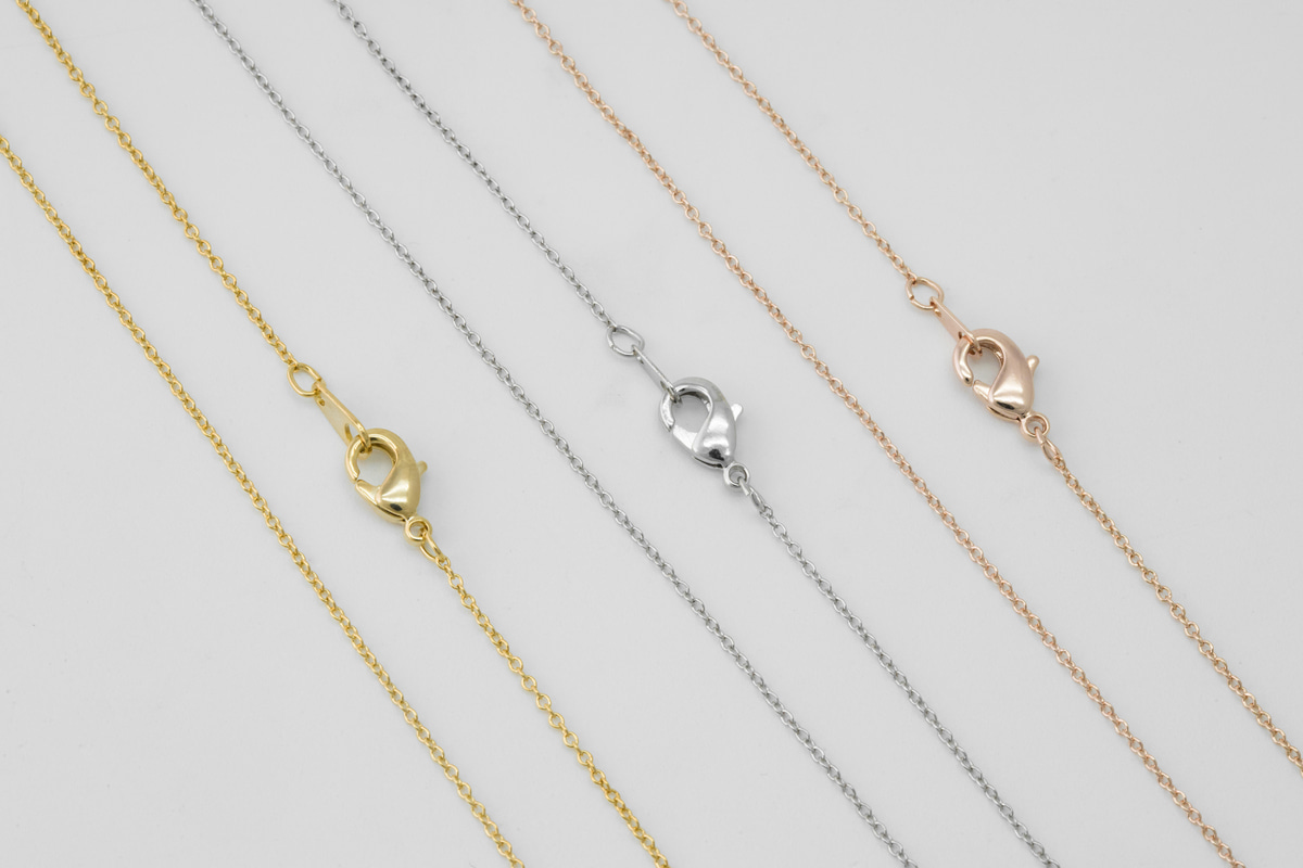 "[N20-VC1] Dainty necklace chain, Red brass, 45cm(17.5""), 220S, 1mm x 0.5mm (The smallest chain), Necklace makings, 10 pcs"