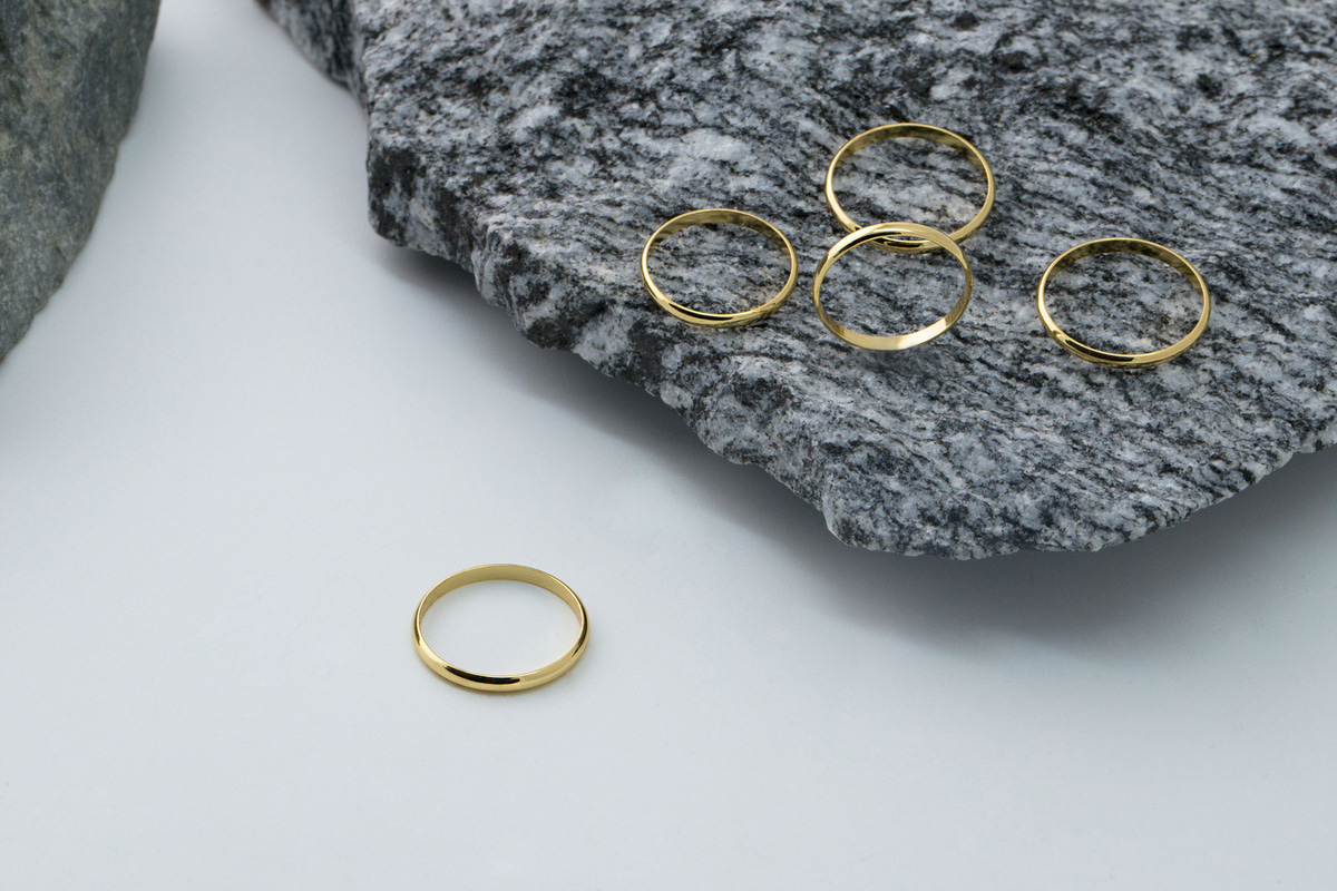 [RB20-05] Plain ring collection, Brass, Nickel free, Handmade jewelry, Dainty rings, Ring sets, Stackable rings, 1 piece per style