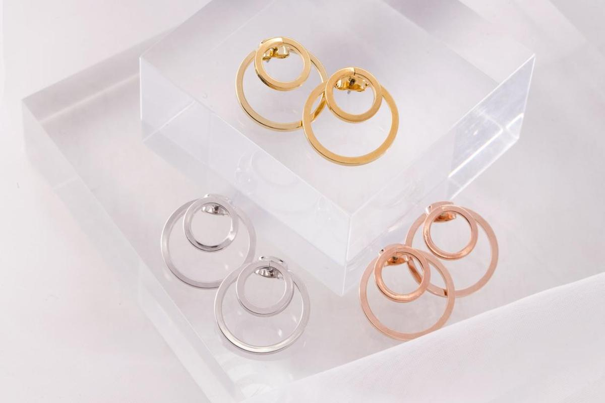 [EB21-05] Round earring post & round back stopper set, Brass, Nickel Free, Handmade jewelry, Fashion jewelry earrings