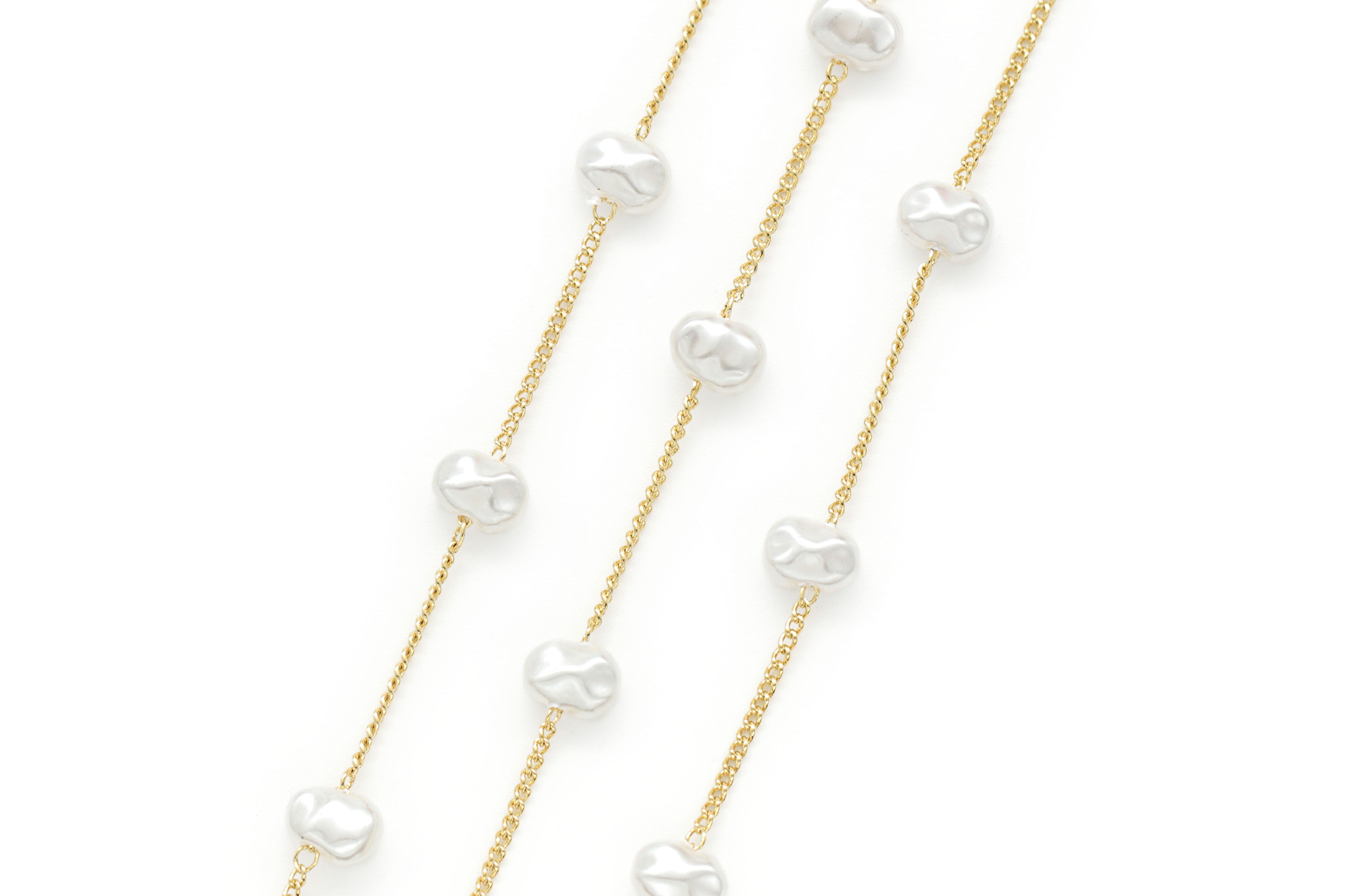 Acrylic beaded chain, CJ50-13