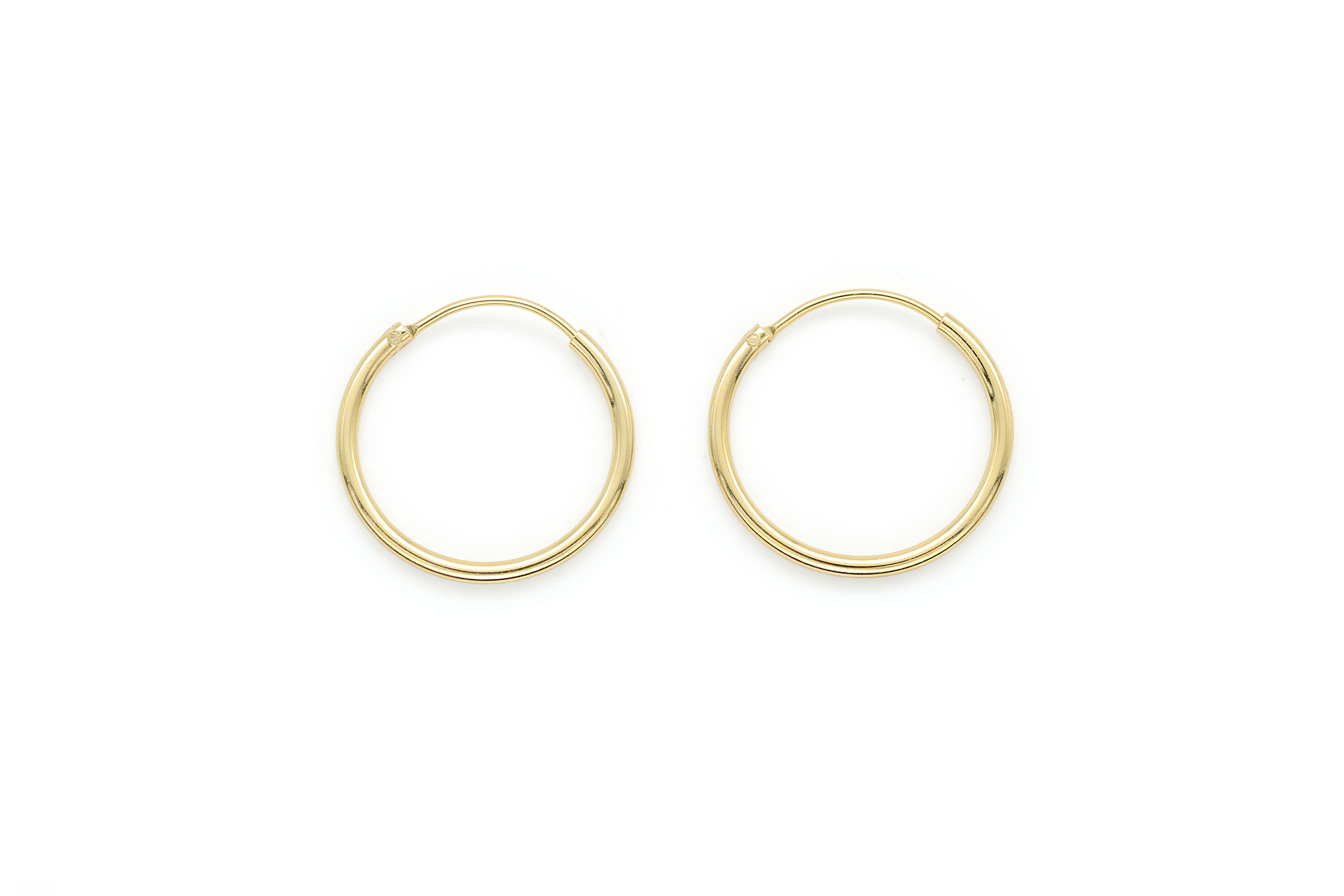 20mm round hoop earrings, T65-R6