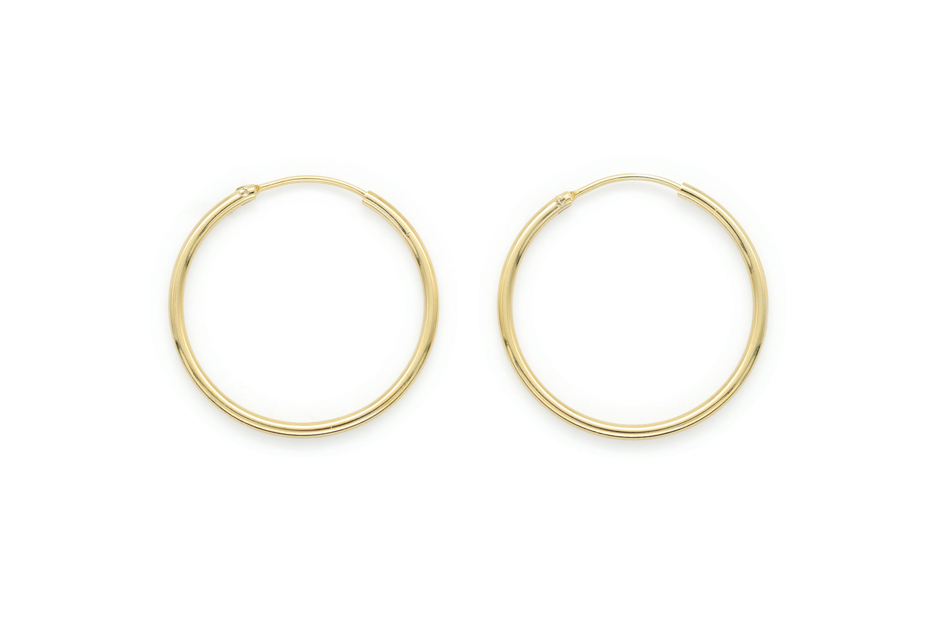 25mm round hoop earrings, T65-R7