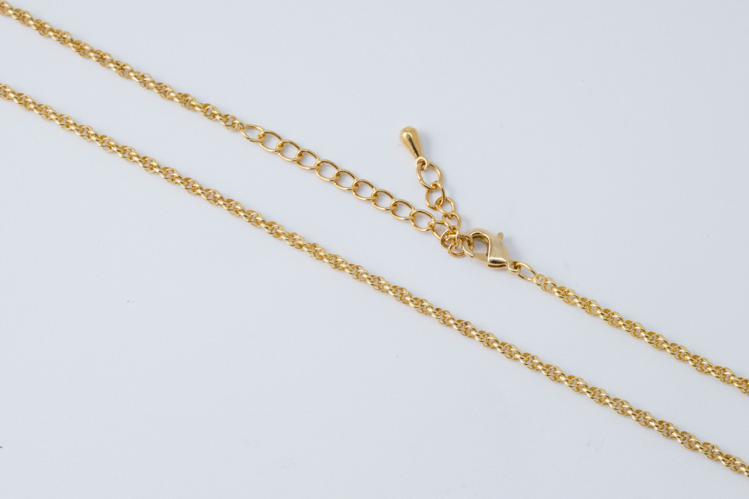 Twisted doughnut chain necklace[M], N2402-G1