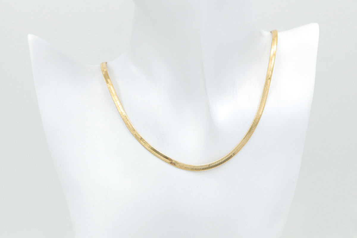"Snake chain necklace(16""), NSPD135-G1"