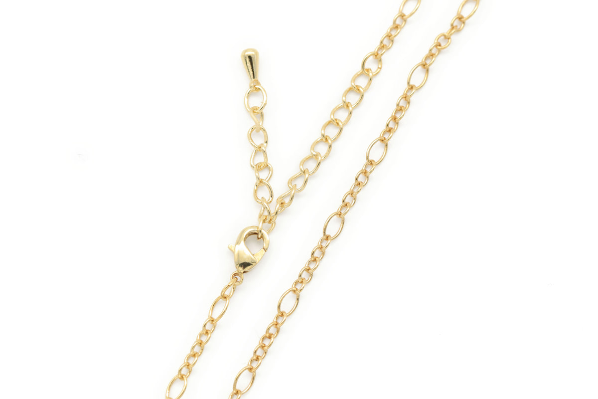 270 Figaro chain necklace, N5104-G1