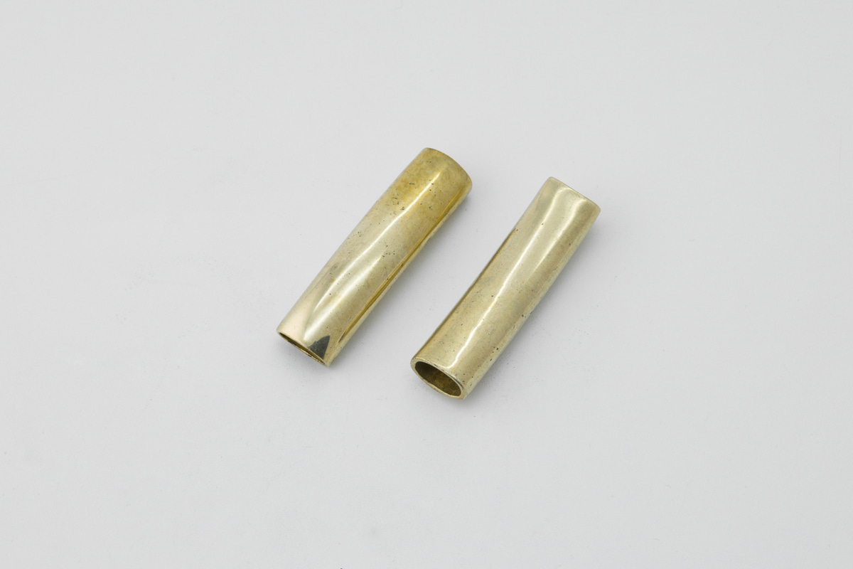 [RY7-P8] RAW BRASS Curved Rectangle(Rounded) Tube, Raw Material for Plating, Jewelry Making, 2 pcs