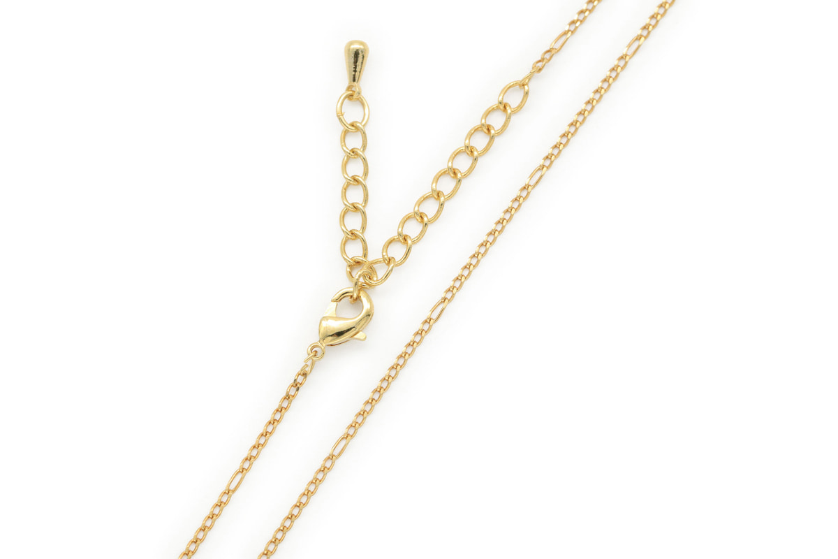 Tiny figaro chain necklace for charm, N5105-G1