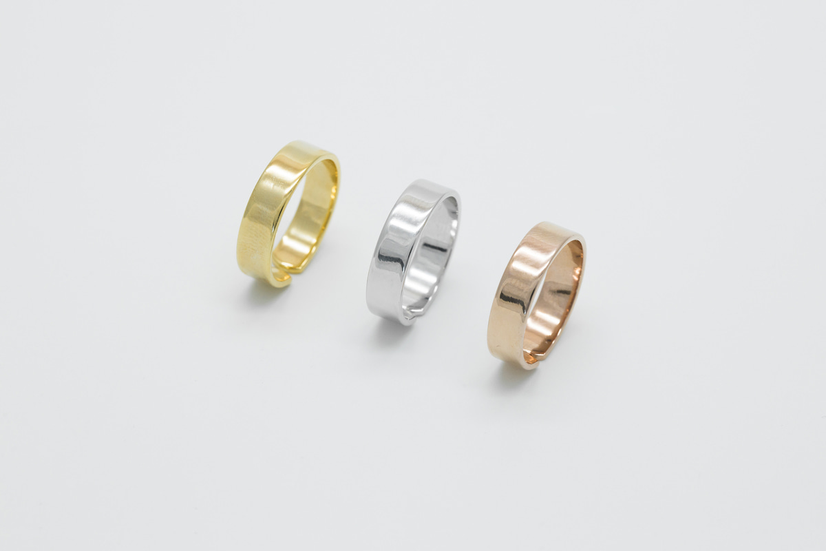 [RB20-09] Bold ring, Brass, Nickel free (Gold and rhodium), Handmade jewelry, Simple rings, Adjustable ring, 1 piece per style