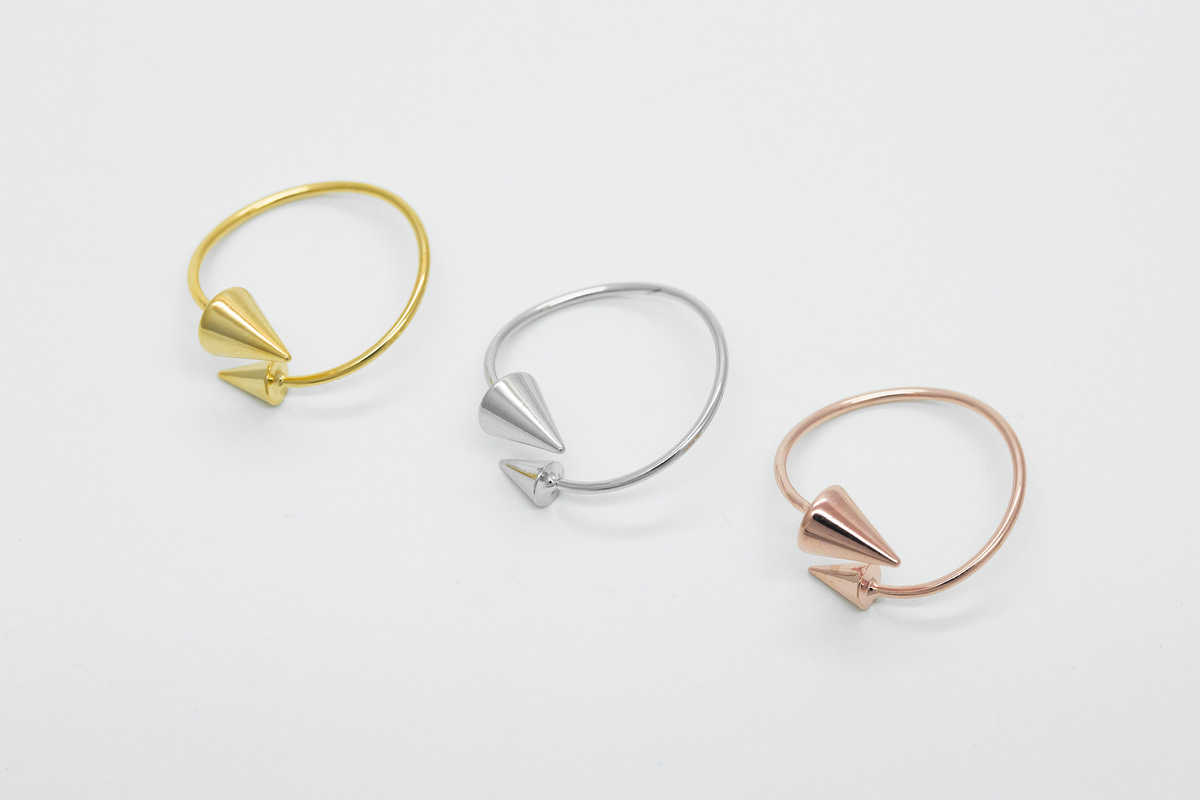 [RB20-12] Spike ring, Brass, Nickel free(Gold and rhodium), Handmade jewelry, Dainty rings, Ring sets, Adjustable rings, 1 piece per style