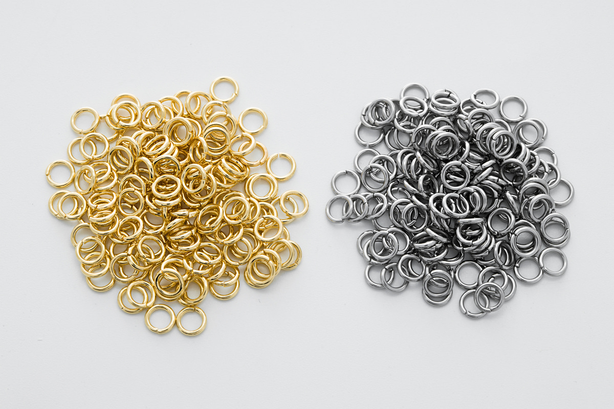 [J48-VC5] 4.5x0.7mm jump ring, Stainless steel, Nickel free, Hypoallergenic, Jewelry component, Not easily tarnish, 100 pcs,