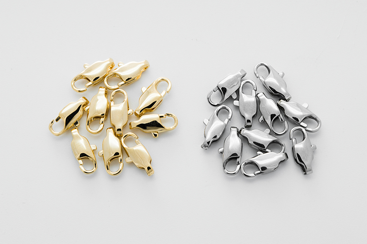 [J48-VC3] Lobster clasp (801), Stainless steel, Nickel free, Hypoallergenic, Jewelry component, Not easily tarnish, Optional quantity