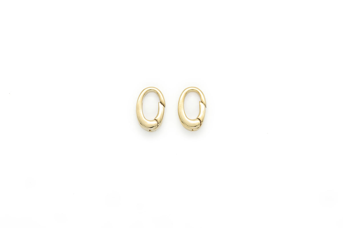 [Q12-G13]Hinged clasp, 2 pcs, 12x8mm, 16K gold plated brass, Nickel free, Jewelry making, Jewelry component, Hinged clip, Clip charm