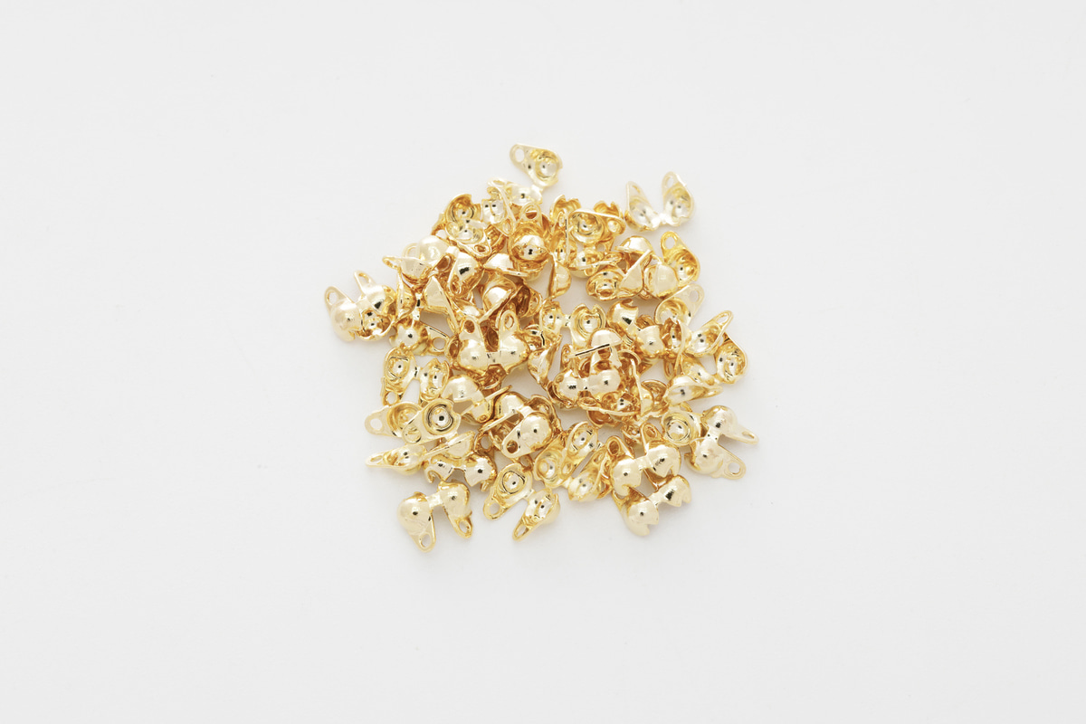 [J36-G7] 2.3mm ball chain cap, Brass, Nickel free, Jewelry making supplies, Necklace makings, Chain cap, 50 pcs