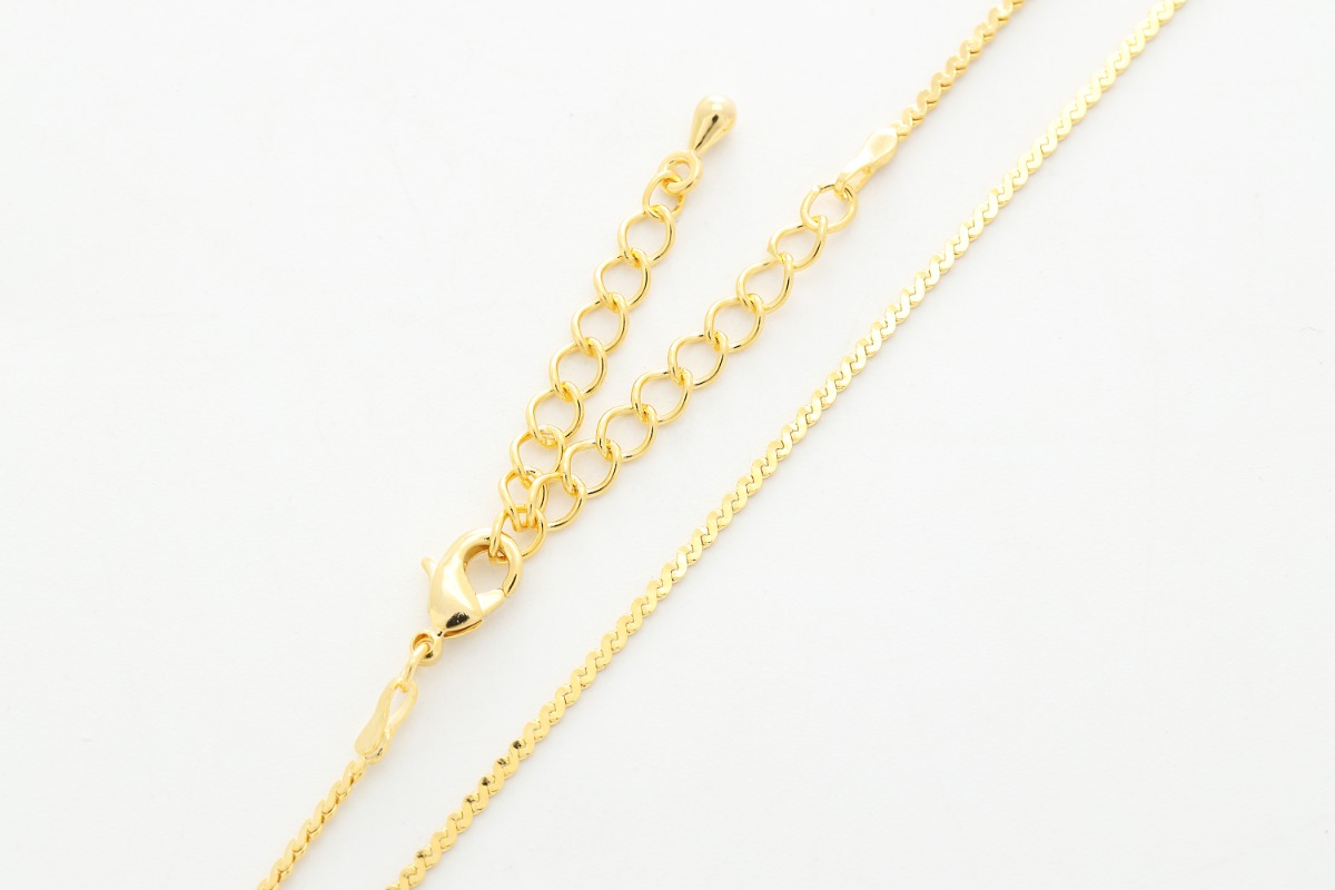 Dainty pre-made chain for necklace, N145SEDC-G1