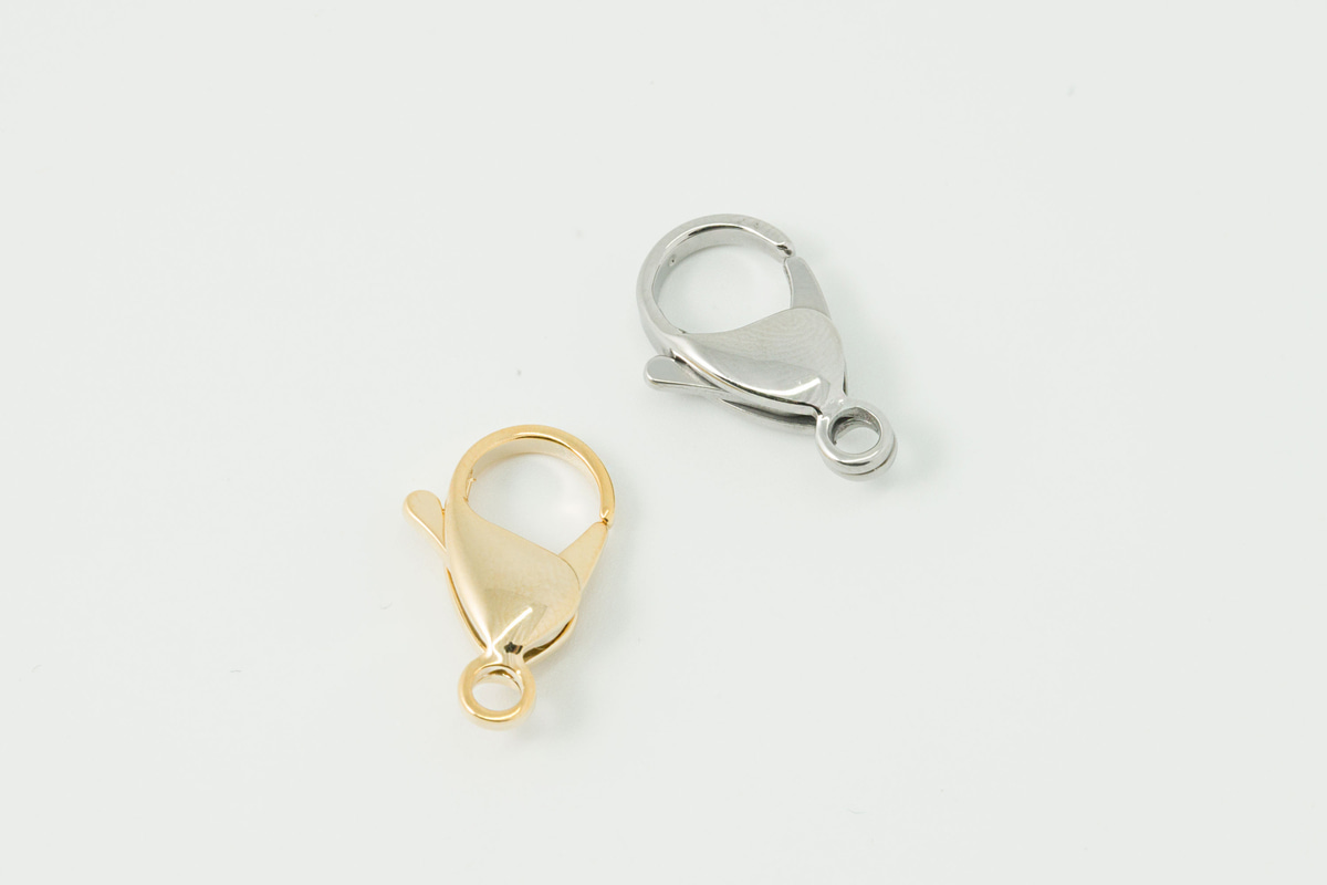[J48-VC9] Lobster clasp (19mm), Stainless steel, Nickel free, Hypoallergenic, Jewelry component, Not easily tarnish, Optional quantity (J48-G5, RJ48-G5)