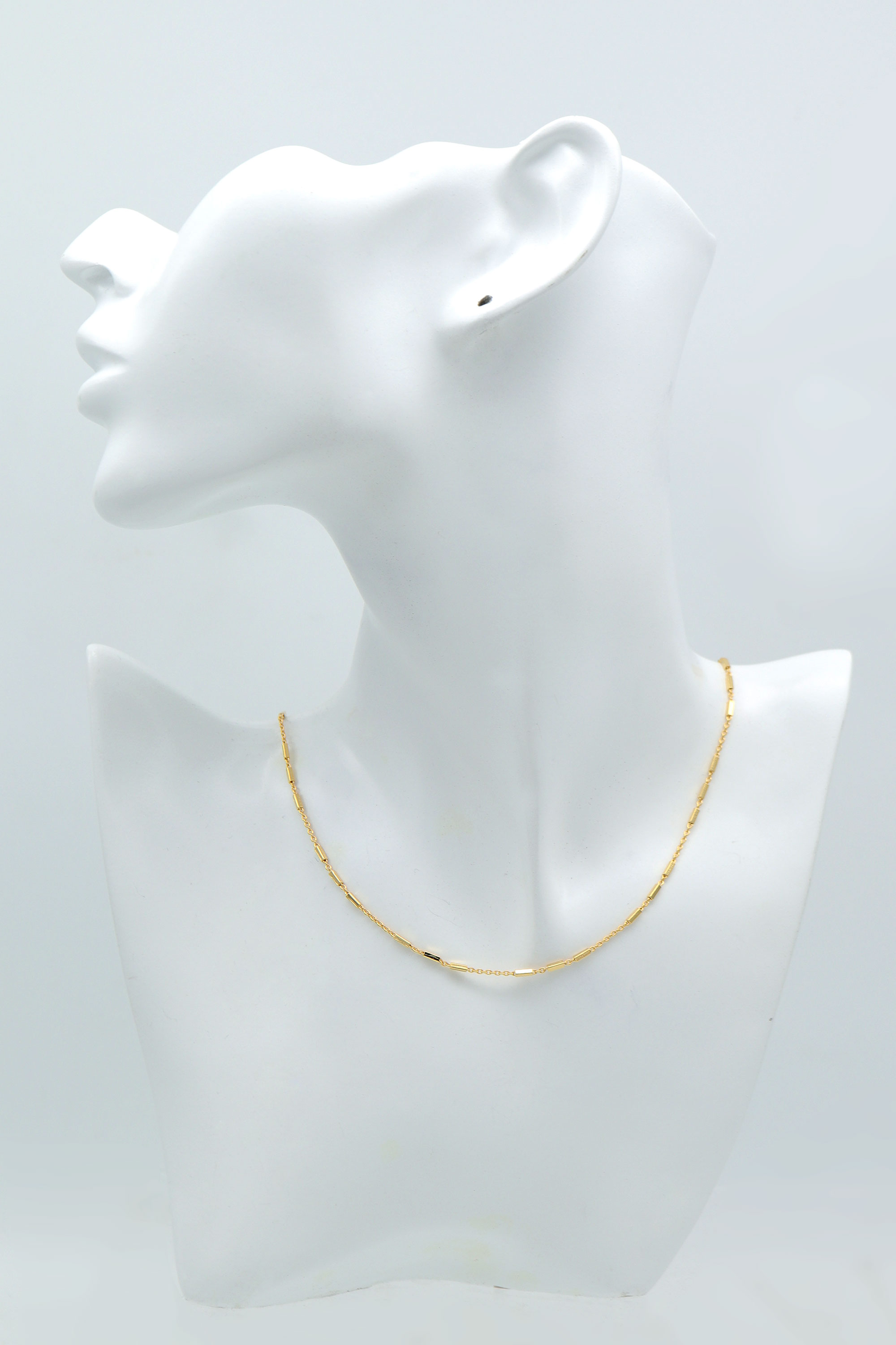 Rectangle beads pre-made chain for necklace, N3502-G