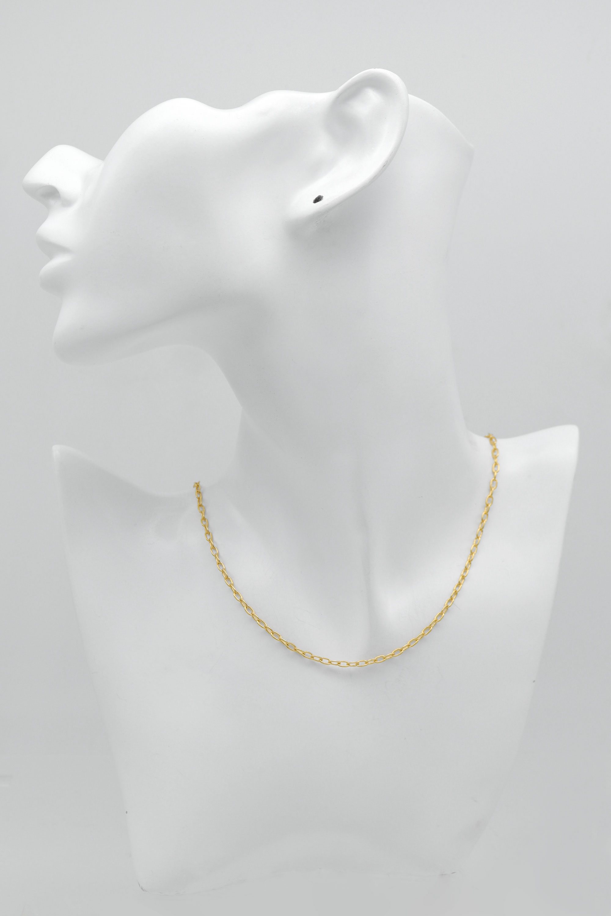 Oval link chain necklace for charm, N4506-G1