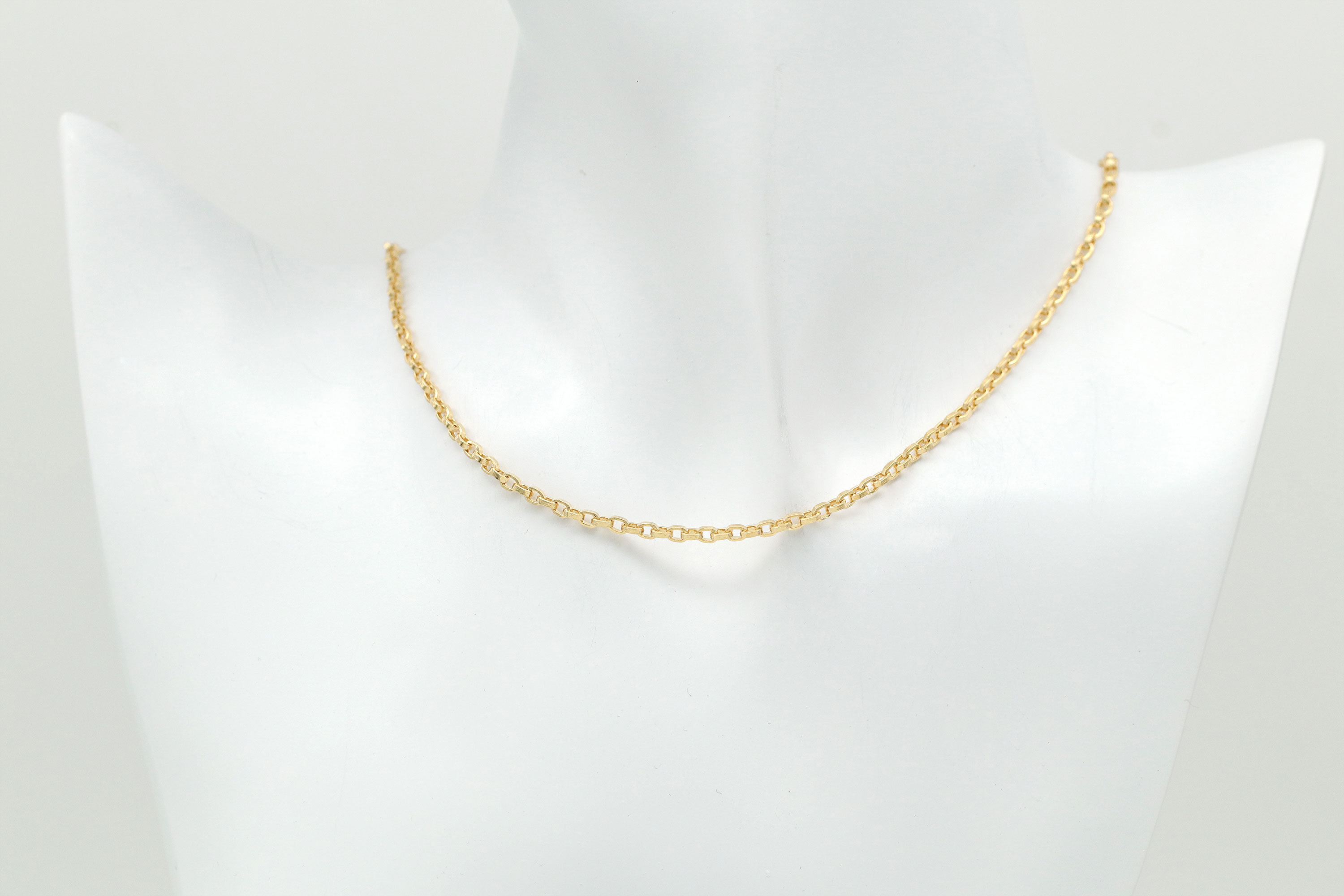 Tiny bold rolo chain necklace for charm, N5111-G1
